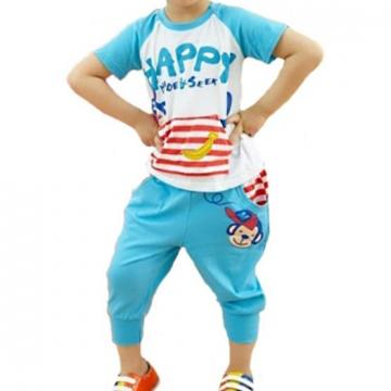 Set tricou si pantalon capris Happy